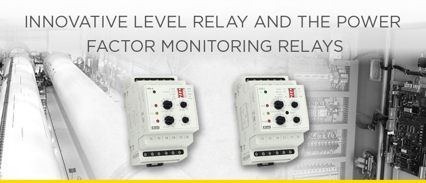 Innovative level relay and the power factor monitoring relays photo