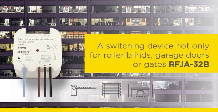 A switching device not only for roller blinds, garage doors or gates RFJA-32B solves numerous issues photo