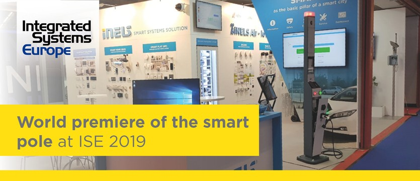 World premiere of the smart pole at ISE 2019 photo