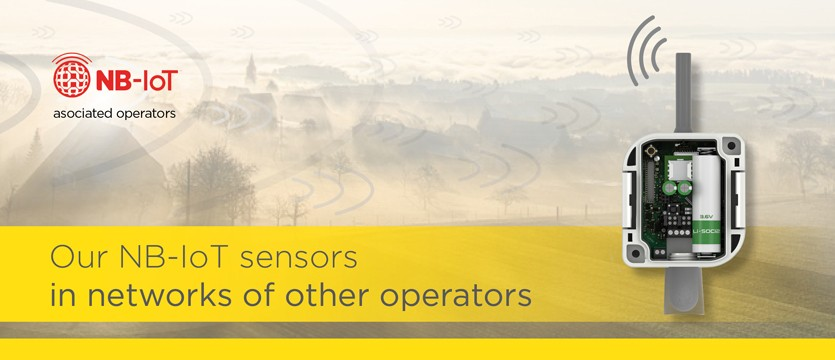 Our NB-IoT sensors in networks of other operators photo